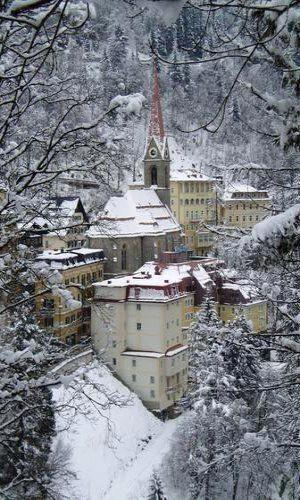 Bad Gastein in snow, Austria