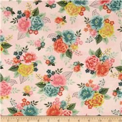 Moda Fresh Cut Gardenia Row Pink Flambe