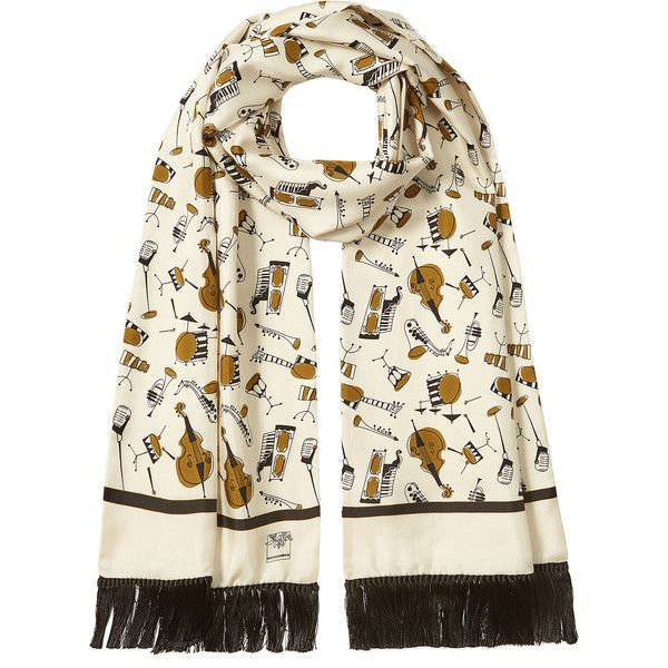 Dolce & Gabbana Printed Silk Scarf (€750) ❤ liked on Polyvore featuring men's fashion, men's accessories, men's scarves, multicolored and mens silk scarves