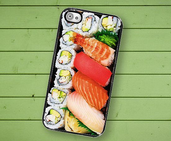 Think of this sushi iPhone case as a way to carry around your bento box at all times.