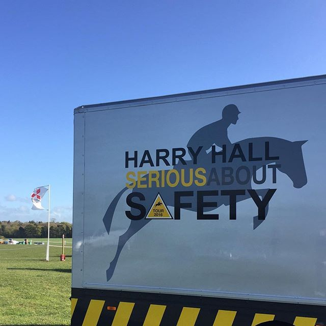 Blue Badders today! ☀️ We're looking forward to seeing all the @mitsubishi_cup action tomorrow! Come and see us on the #SeriousAboutSafety Lorry! #MMBHT #MMC