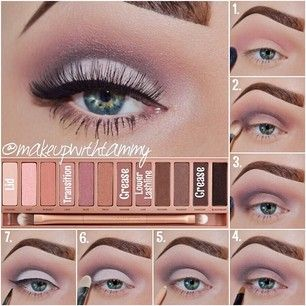 Urban Decay Naked3 palette tutorial