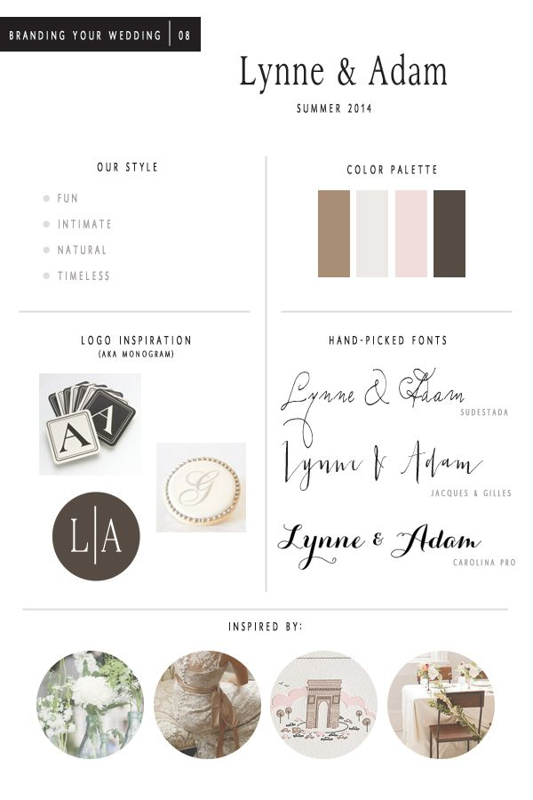 wedding branding board / Peter Loves Jane