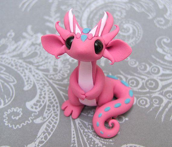 Cute little polymer clay dragon.