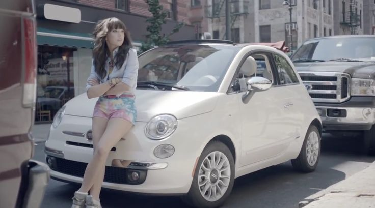 fiat 500 c (2012) car drivencarly rae jepsen in good time