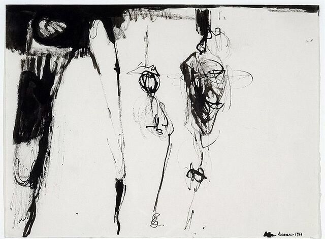 Drawing by Eva Hesse, 1960