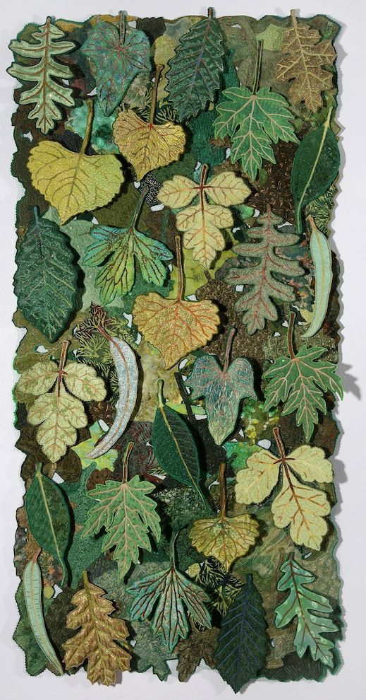 Green leaves craft wall hanging ~ The common thread