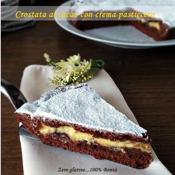 Crostata al cacao con crema pasticcera