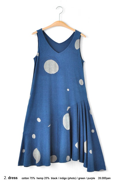 Hemp Cotton dot print dress - JURGEN LEHL