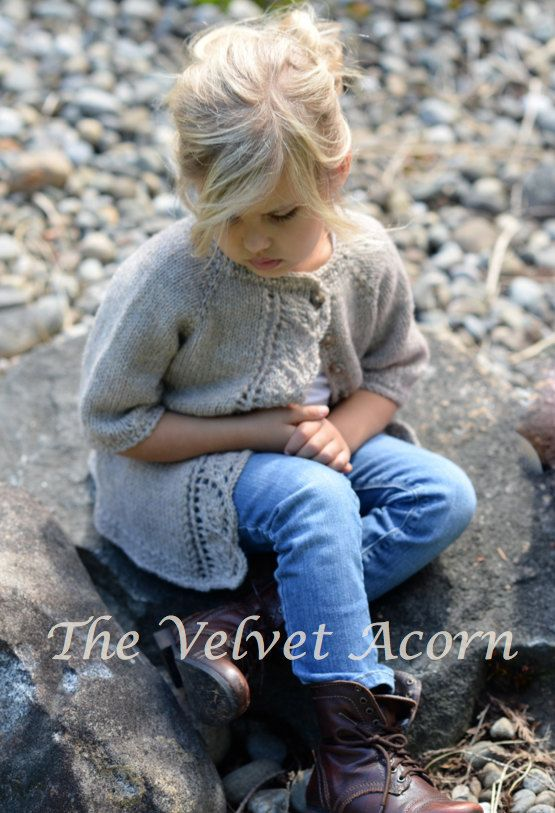 KNITTING PATTERN-The Cove Cardigan (2/3, 4/5, 6/7, 8/9, 10/11 years) by Thevelvetacorn