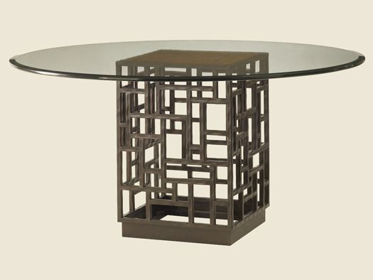 Glass Dining Table X Shaped Base Mars Clear Glass Dining Table