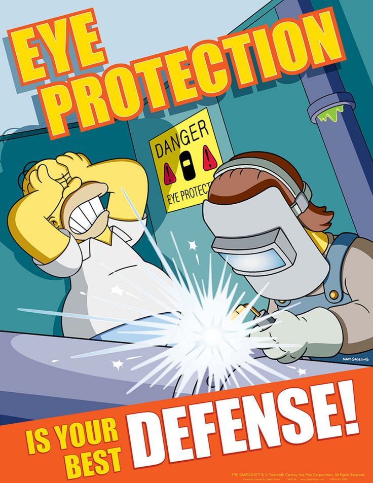 Simpsons safety posters can really come in handy while at work (23 HQ photos)