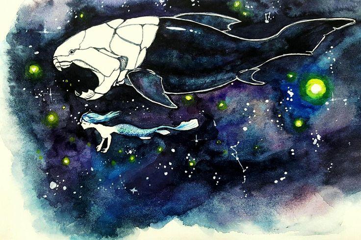 dunkleosteus & mermaid