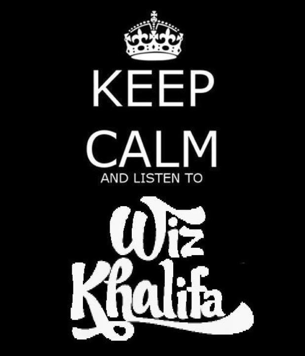 The Wiz Khalifa writing, not the keep calm