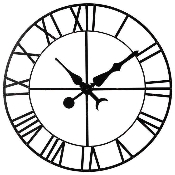 Horloge décorative en métal noir D 130 cm ALEMBERT