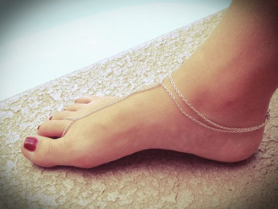 Sterling Silver anklet toe ring