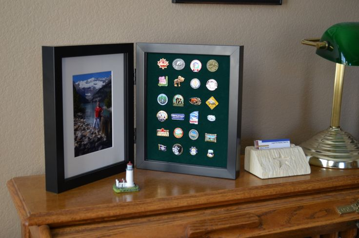 This case is $69, but I can make it for $20. It's perfect for finally displaying the pins I collected on the Rockies trip.