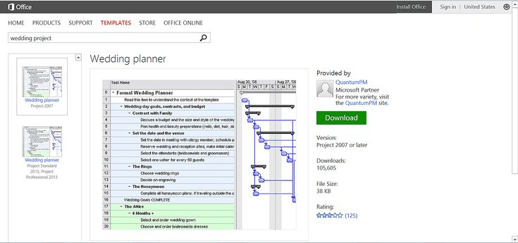 Getting Married? Free Wedding Templates From Microsoft!: Wedding Scheduling Template or Printable for Microsoft Project