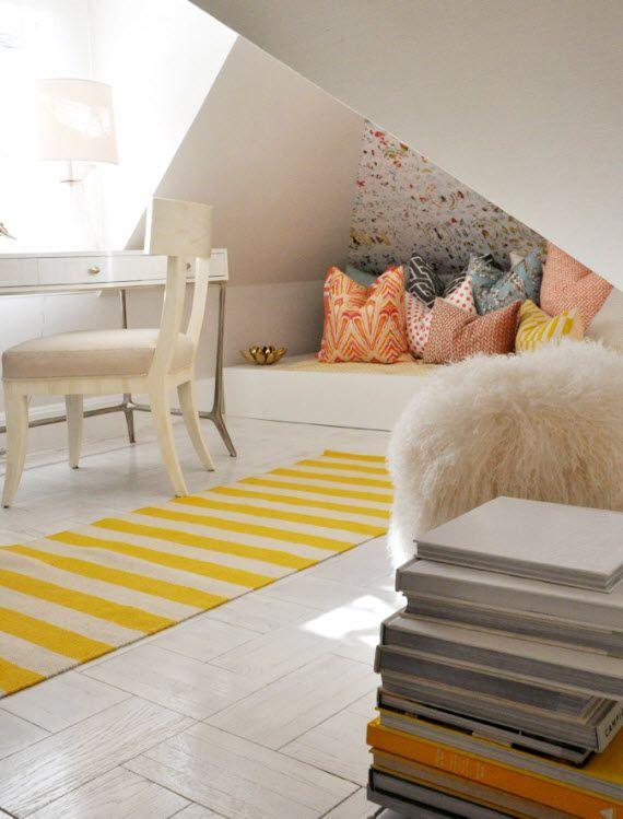 attic space. rug