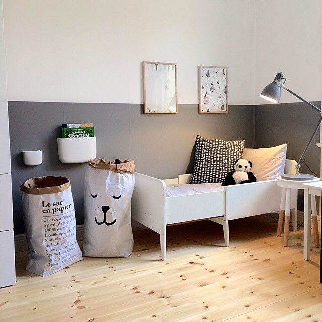 Monochrome toddler bedroom