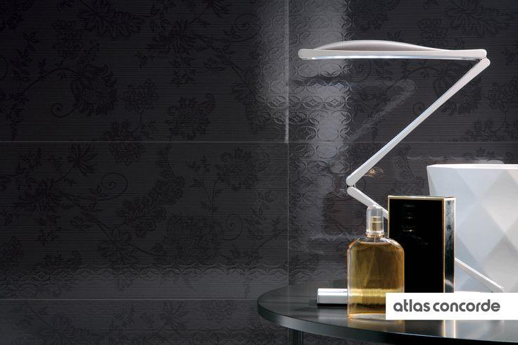 #ADORE #black | #Wallpaper | #AtlasConcorde | #Tiles | #Ceramic
