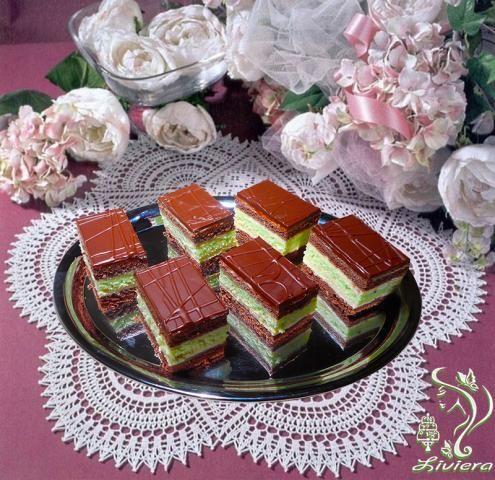 Čokoládovo-pepermintové rezy, recepty, Zákusky | Tortyodmamy.sk
