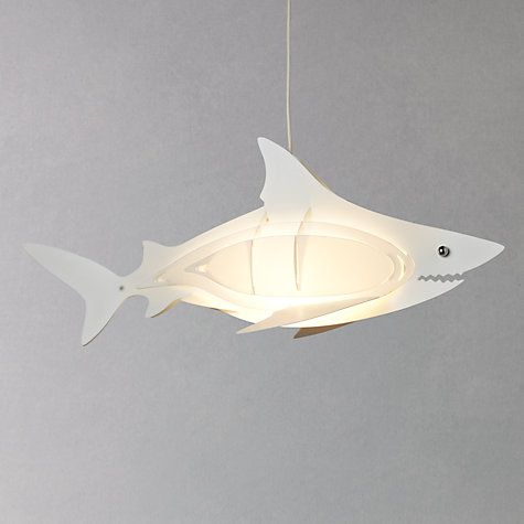 Buy little home at John Lewis Easy-to-fit Shark Ceiling Pendant Shade Online at johnlewis.com...£25