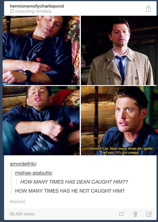 Cas watching Dean sleep ... How many times he wasn't caught lol