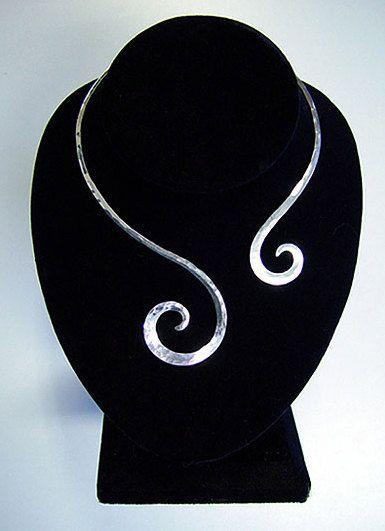 Sterling+Silver+Collar+Choker+by+Sozra+on+Etsy