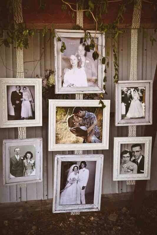 Photos of grandparents and parents weddings