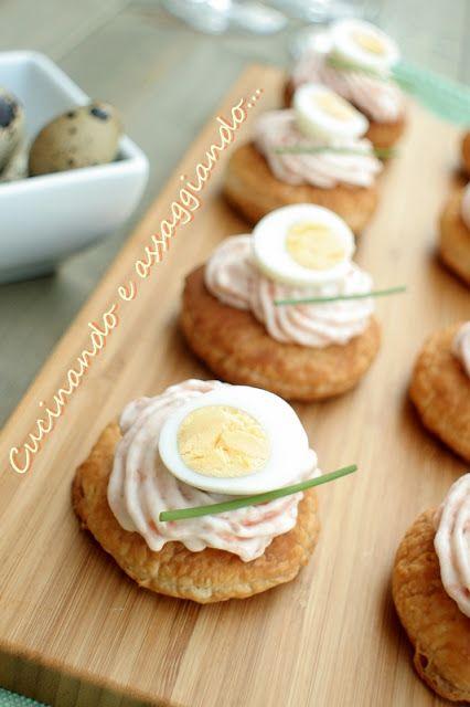 Cucinando e assaggiando...: ....di salmone e uova di quaglia