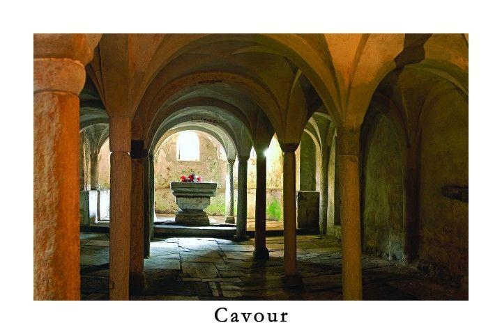 Cartolina su Cavour - Abbazia di S.Maria [Apre una nuova finestra]