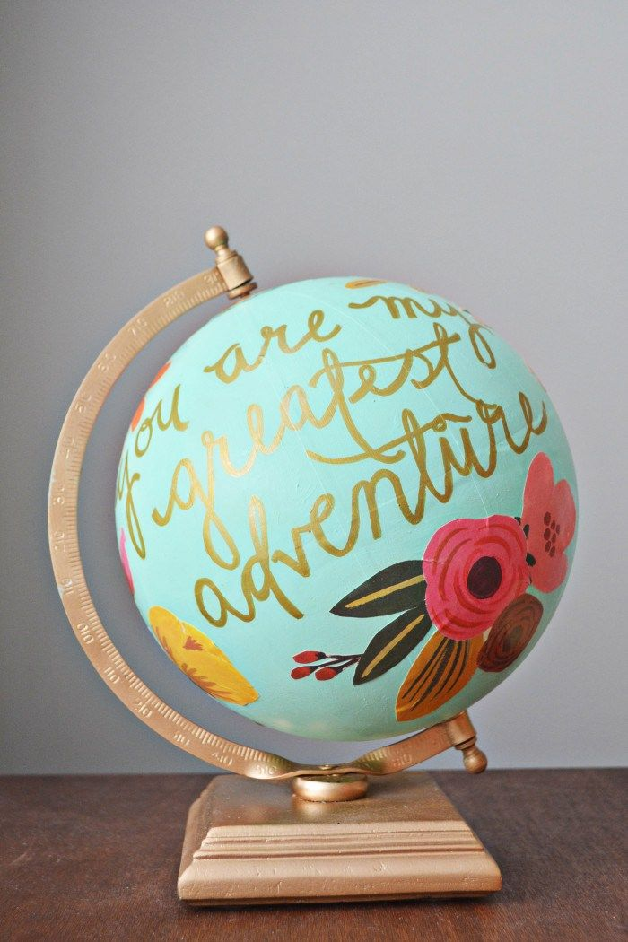 Floral Quote Globe | Anthropologie Hack
