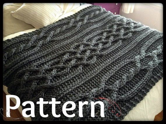 Olivia Cable Knit Blanket PATTERN