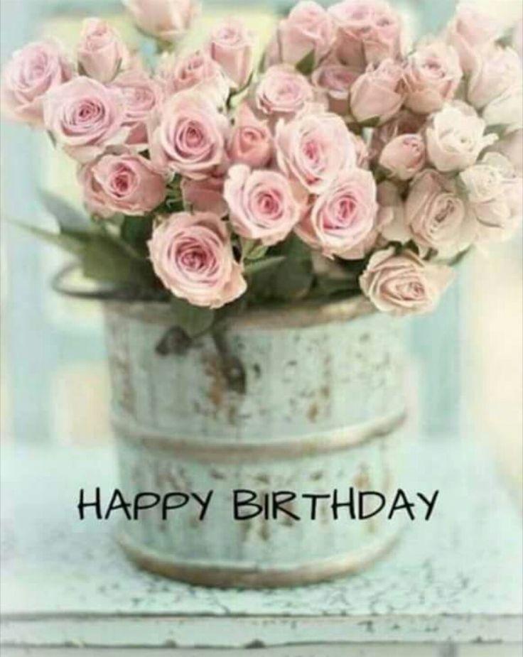 Vintage Happy Birthday Cake