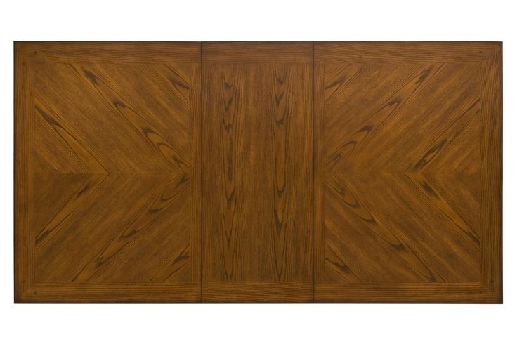 Ellis Dining table - oak veneer provides beautiful, intricate natural patterns