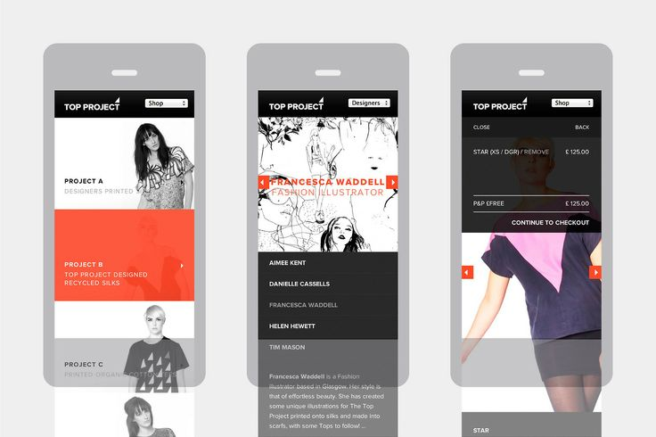 Top Project Mobile Site