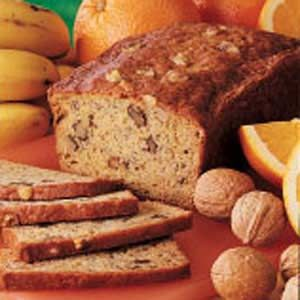 Mom used to make a banana bread with orange juice but I didn't have the recipe.  Found this on Taste of Home.