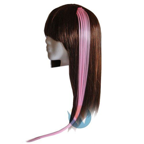 22″ Clip-in Straight Long Hair Extension (Baby Pink)