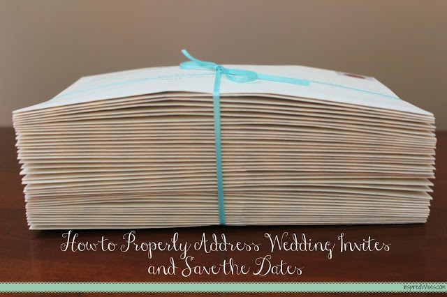 how to address save the dates