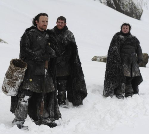 My three favorite guys in The Night's Watch. Other than Lord Mormont, aka Battle Santa. #GoT
