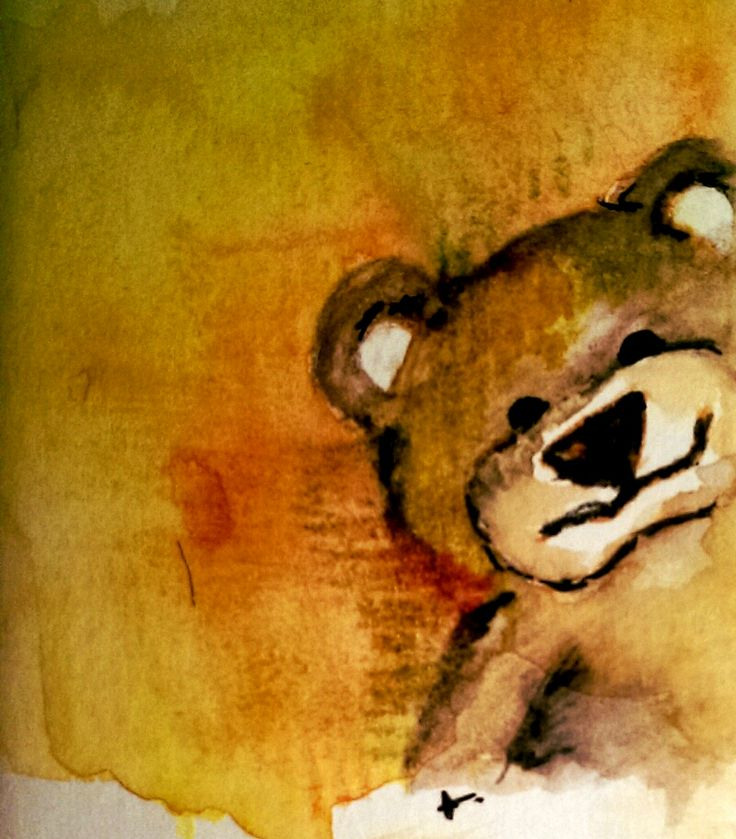 Rita Silva Fine Art – Ted – 5mils #watercolor, #graphitint, #animals, #artwork, #art, #canvas #paper