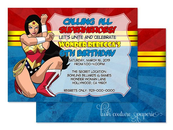 103 Best Wonder Woman Birthday Images On Pinterest Activities