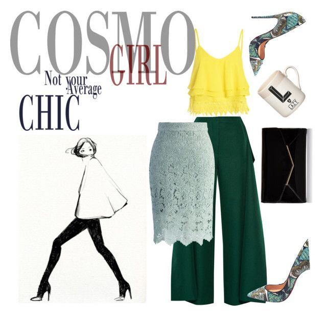 """""""Chic in Green"""" by miah-belmonte on Polyvore featuring Marni, Glamorous, Furla, Christian Louboutin, Chicwish and Gary Birks Design"""