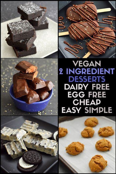 5 Vegan TWO INGREDIENT Dessert Recipes - Brownie Box Mix with Canned