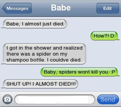 This is me. haha Top 10 Most Funny iPhone Auto Correct Text Messages Fails