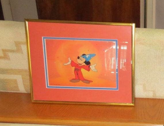 Vintage 1988 Disney Photo Cell of Mickey Mouse as the