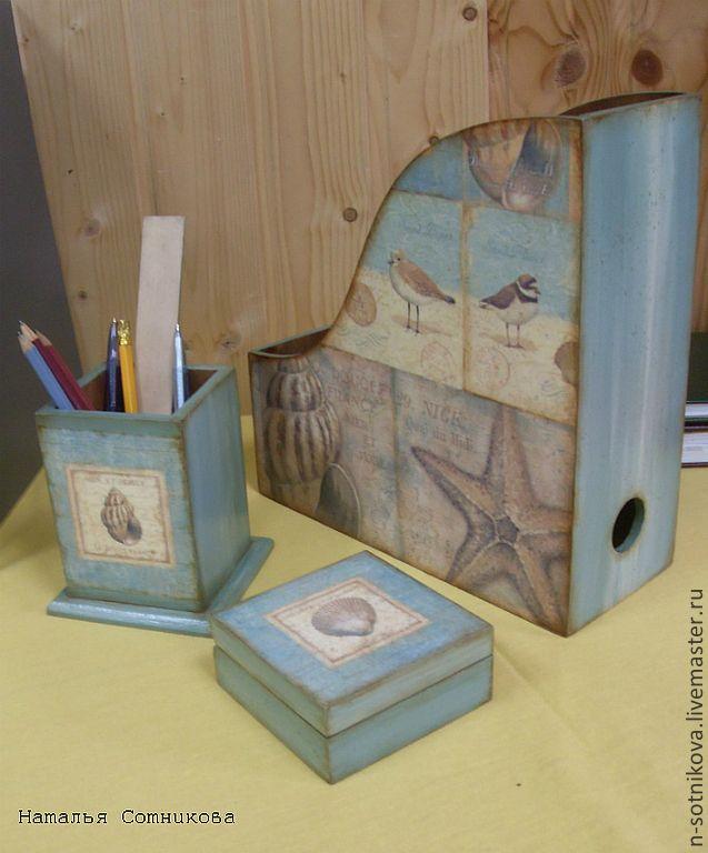 """Купить Набор для письменного стола """"Ocean"""" - морская волна, письменный стол…"""