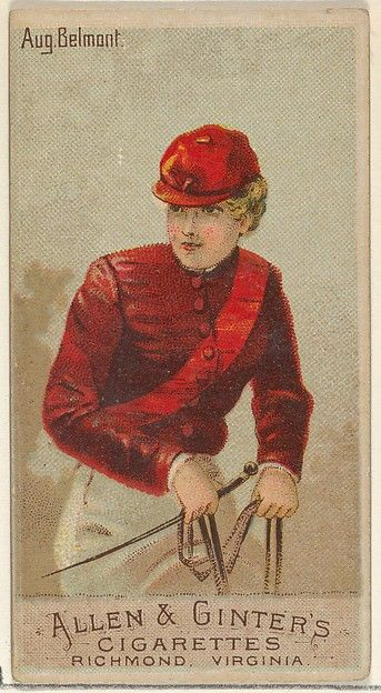 August Belmont, from the Racing Colors of the World series (N22a) for Allen & Ginter Cigarettes