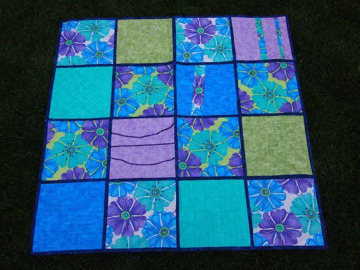 Machine quilting practice quilt